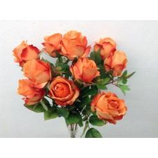 "Roos, struik, 18.5"", 10 bloemen, oranje"