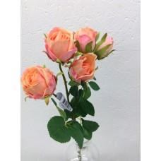 rose spray, 39 cm, 5 bloemen, perzik