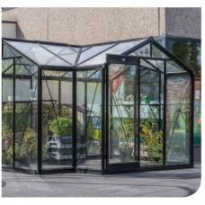 ACD - Tuinkamer Aurélie - 3,03 m x 3,71 m, zwart gecoat frame in RAL 9005