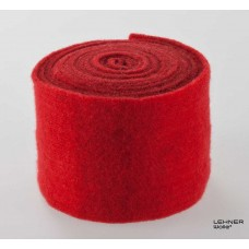 Vilt, rood; 15 cm x 5 m