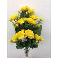 Roos, halfstruik, 50 cm, 12 bloemen, 24 bloemknoppen, geel