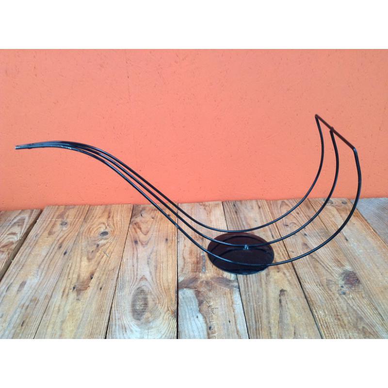 Frame snake on stand 60 x 30 x h30, black