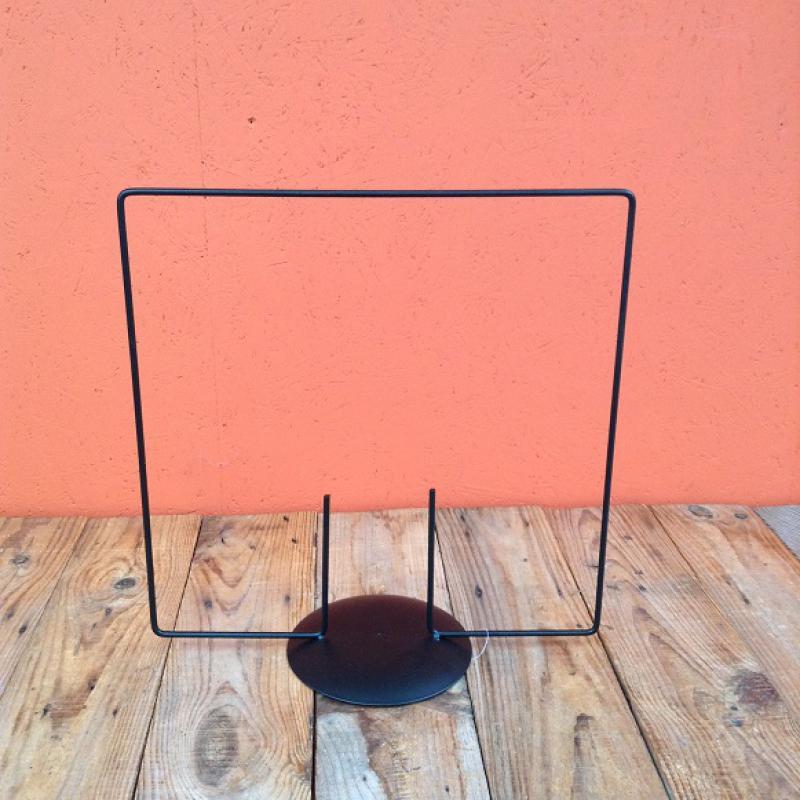 Frame Vierkant 35 X 35 Cm Op Voet ø 15 Cm 2 Pin Zwart