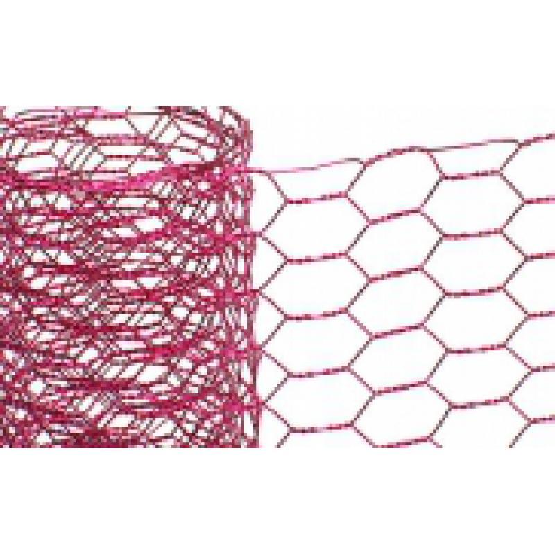 hexagon wire netting 5 m/width 5 cm, pink