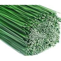Bloemendraad, groen gelakt - 0,6 x 400 mm - 1kg